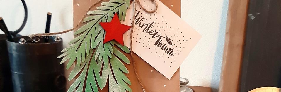 Clear Stamps — Geschenkverpackung für die Weihnachtszeit