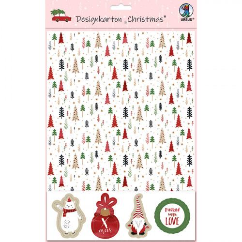 Ursus Designkarton Christmas, zum Basteln