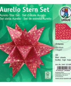 Ursus Faltblätter Aurelio Stern Antares, rot/gold