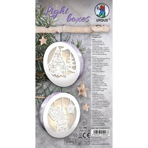 Light boxes, Weihnachtslaternen zum Basteln