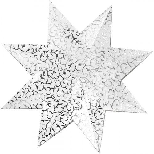 Weihnachtssterne Stella Apart Klassik, weiß/silber