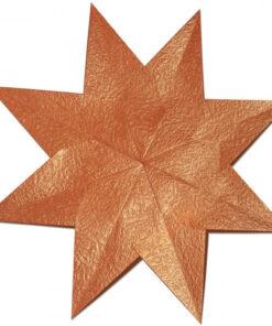 Weihnachtssterne Stella Crush paper, kupfer/rot