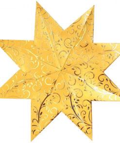 Weihnachtssterne Stella Goldranken, gold/gold