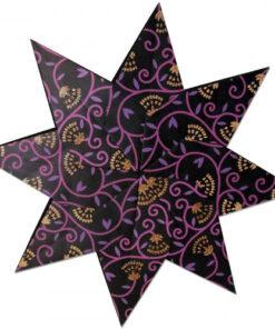 """Weihnachtssterne Stella """"Shiva"""", schwarz/lila/kupfer"""