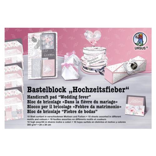Ursus Fotokarton-Bastelblock Hochzeitsfieber, 24x24 cm