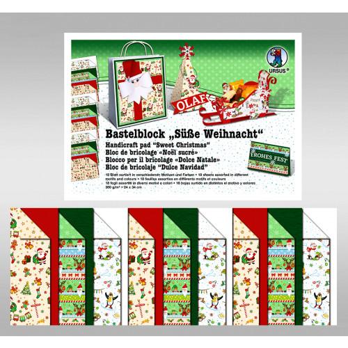 Ursus Bastelblock, Süße Weihnacht, 24 x 34 cm