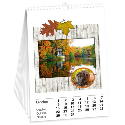 Bastelkalender DIN A3, weiß