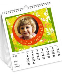 Foto-, Mal- und Bastelkalender, 21,5 x 24 cm, weiß