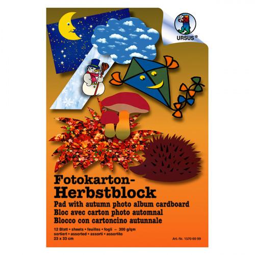 Ursus Fotokarton-Block, Herbst, 23x33 cm