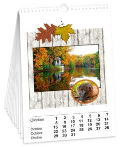 Bastelkalender DIN A4, weiß