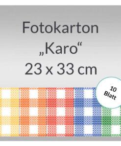 Bastelmappe Karo-Fotokarton, 23x33cm, 10 Blatt