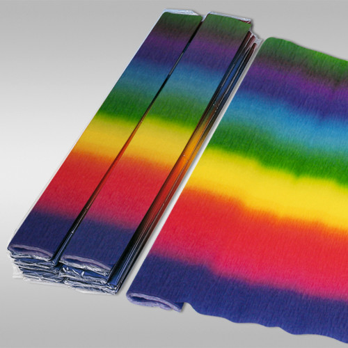 Ursus Krepp-Papier, gerollt, Regenbogen, zum Basteln