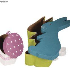 Pappmaché Box Hase mit Ei