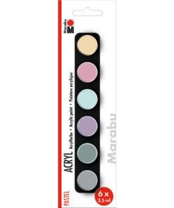 Marabu Acrylfarben-Set Pastel zum Malen und Basteln