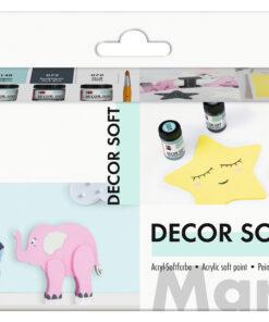 Marabu Acryl-Softfarbe-Set, zum Malen und Basteln
