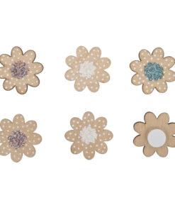 Rayher Holz-Streuteile Mini Blüten, 12 Stück