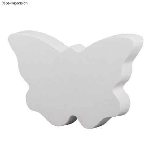 Schmetterling aus gegossenem weißen Gießpulver
