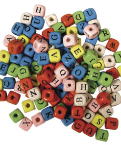 Holz-Buchstabenwürfel zum Basteln