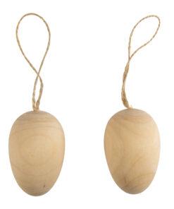 Rayher Holz-Eier mit Jutekordel
