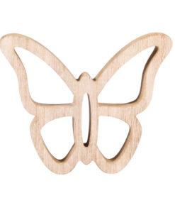 Holz-Motiv Schmetterling, zum Bemalen und Dekorieren