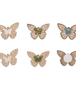 Rayher Holz-Streuteile Mini Schmetterlinge