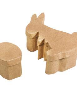 Pappmaché-Box Hase und Ei, zum Gestalten