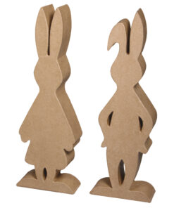 Pappmaché Hasenpaar zum Gestalten