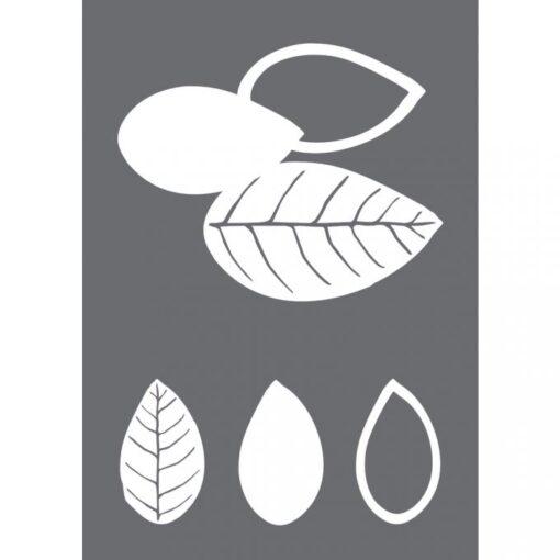 Siebdruckschablone Blätter