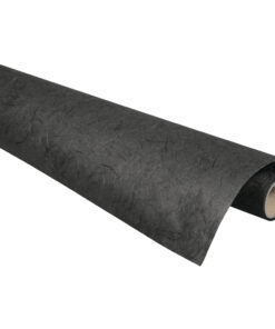 Rayher Strohseide schwarz auf Rolle