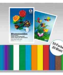 Ursus Blumenseide in 10 Farben sortiert