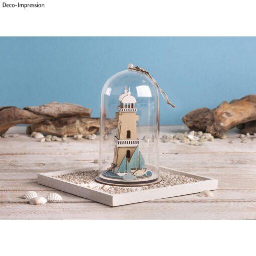 Deko-Idee mit Leuchtturm-Bausatz