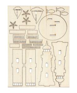 Holz-Bausatz Leuchtturm zum Zusammenstecken