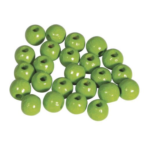 Rayher Holzperlen poliert in apfelgrün