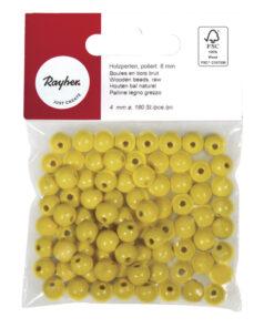 Rayher Holzperlen poliert in gelb