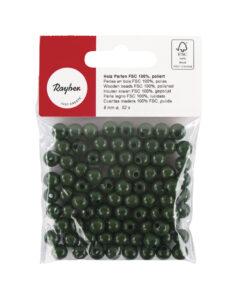 Rayher Holzperlen poliert in grün