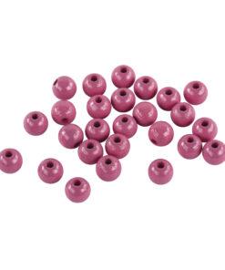 Rayher Holzperlen poliert in pink