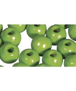 glänzend polierte Holzperlen, apfelgrün