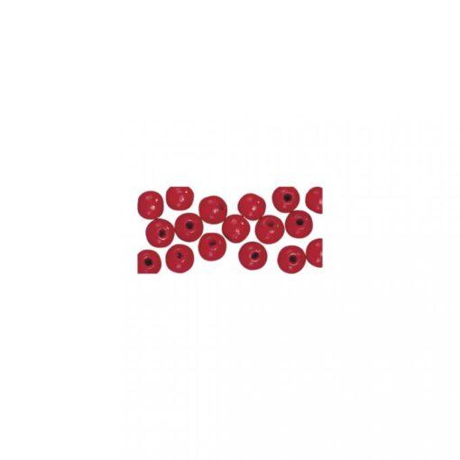 glänzend polierte Holzperlen, rot