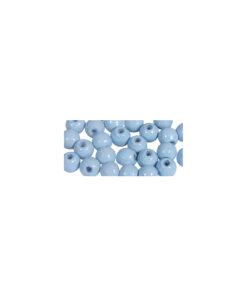 glänzend polierte Holzperlen, taubenblau