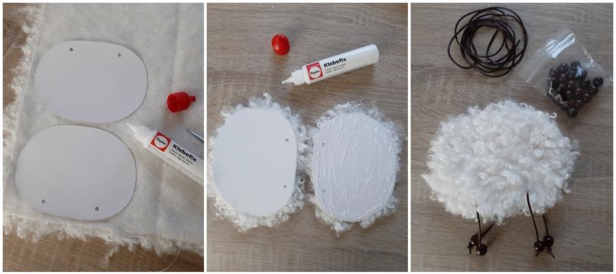 Osterlämmer basteln, in 3 Schritten erklärt