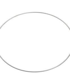 Metallring Ø 45cm, silber beschichtet