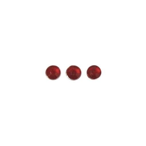 Strasssteine aus Plastik in rot