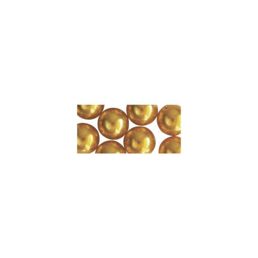 Renaissance Glaswachsperlen, Dose in goldgelb