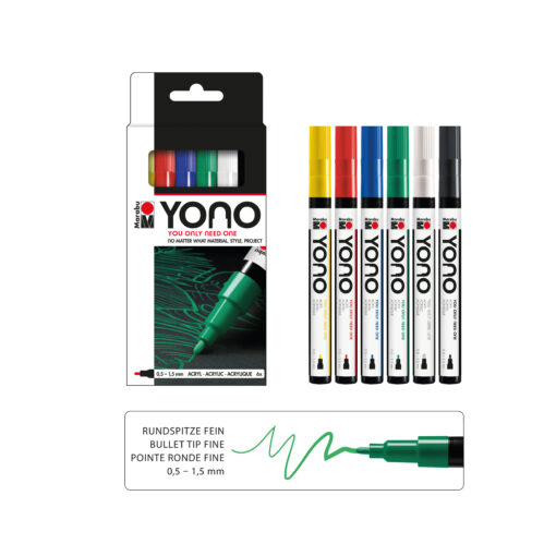 Marabu YONO Set 6-teilig