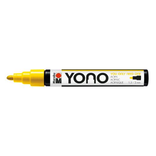 Marabu YONO Marker Gelb, mit Rundspitze 1,5-3mm
