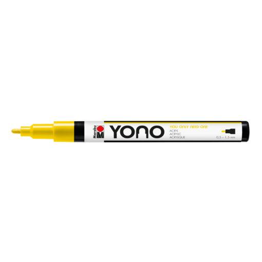 Marabu YONO Marker Gelb, mit Rundspitze fein, 1,5-3mm