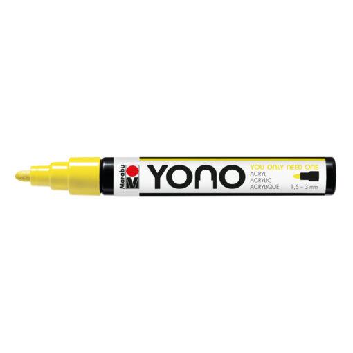 Marabu YONO Marker Neon-Gelb mit Rundspitze, 1,5-3 mm