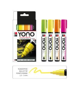 Marabu YONO Marker Set Neon, 4 Farben