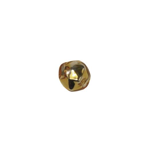 Böhmische Glas-Rautenperlen, 5mm Ø, gold