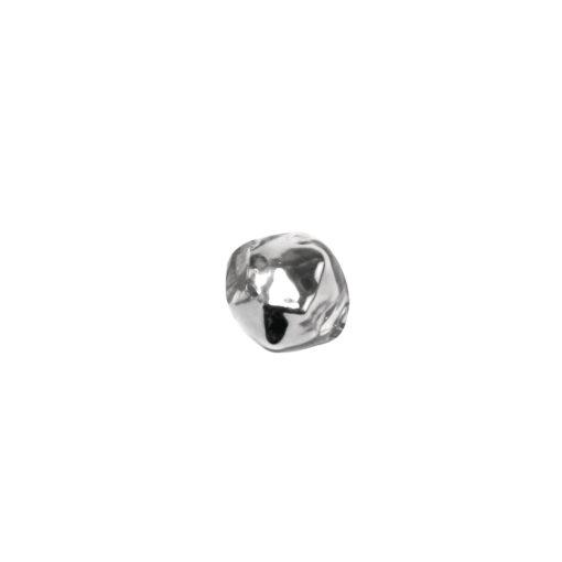 Böhmische Glas-Rautenperlen, 5mm Ø, silber